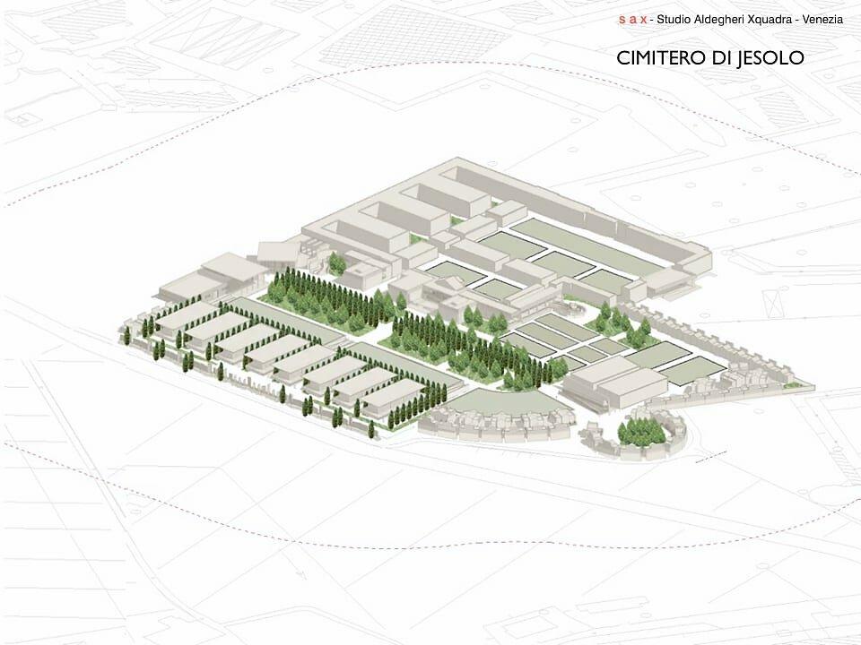 Ampliamento del cimitero di Jesolo, Venezia - 3° stralcio