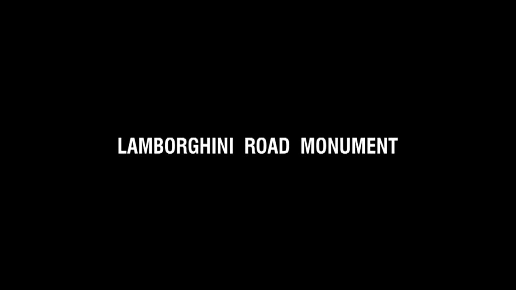 Lamborghini road monument (design competition)
